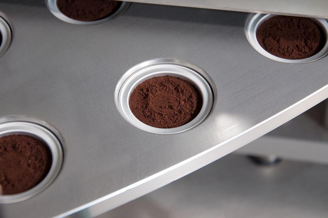 Abgefüllte Kaffeekapsel